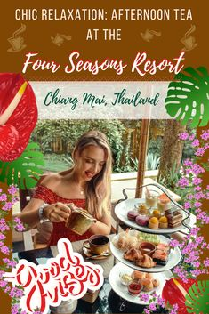 Discover an epic Chic Relaxation in Chiang Mai Thailand in a form of an Afternoon Tea at the Four Seasons Resort Chiang Mai. Tea drinking traditions in Asia are possibly the best in the world so Four Seasons is giving a nice and delicious insight into tha Thailand Travel Tips, Visit Thailand, Asia Travel, Wanderlust Travel, Koh Chang, Chiang Mai Thailand, Travel With Kids, Family Travel, Foodie Travel