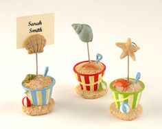 His Pick! But there are 2 others similar in concept so I ordered all of them!  Beach Bucket Place Card Holders (Set of 3)