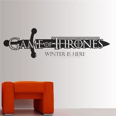 Game of Thrones Wall Decal Winter is here Modern Home Wall Sticker Decal
