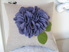 Purple+Ruffle+Flower+Pillow+in+Eggplant+Purple+on+por+dedeetsyshop,+$35,00