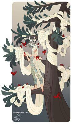 ArtStation - Winter Tree, Jessica Madorran