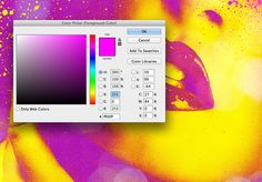 create a colorful fluoro duotone photo effect