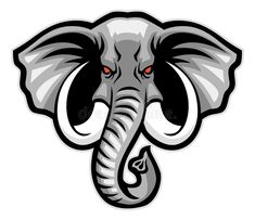 Illustration about Vector of elephant head mascot. Illustration of emblem, kenya, outline - 45363324 Elephant Logo, Elephant Head, Elephant Tattoos, Geometric Elephant, Logo Esport, Font Logo, Team Logo, Elefante Tattoo, Mascot Design