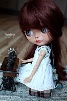 Penelope is my custom blythe doll for sale. See her & more of my custom Blythe dolls for sale. Blythe Dolls For Sale, Bjd Dolls, Pretty Dolls, Cute Dolls, Hello Dolly, Cute Illustration, Big Eyes, Fashion Dolls, Barbie
