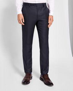 Debonair wool trousers - Dark Blue | Suits | Ted Baker UK