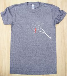 Super Soft Cardinal & Branches adult tee by strawberryluna.