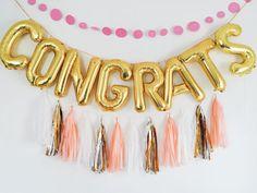 CONGRATS balloons tassel garland letter balloon set
