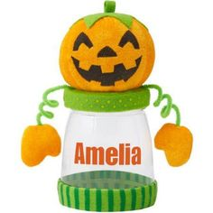 Personalized Frightful Fun Treat Jar, Choose from 4 Characters, White