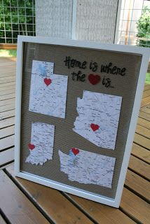 Craft of the Week: Home Decor Printable state maps