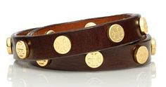 Tory Burch double wrap studded leather bracelet #toryburch http://rstyle.me/n/ipskdr9te