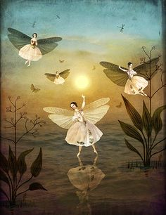 Sun Dance by Catrin Welz-Stein….Checkout this amazing surreal visionary fantasy art by this amazing artist. Art And Illustration, Fantasy Kunst, Fantasy Art, Illustrator, Arte Pop, Canvas Prints, Art Prints, Fairy Art, Magical Creatures