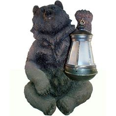 Grizzly Bear Solar Lantern Light