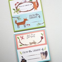 Cute Woodland Animal Bookplate Label Set by foxandstar on Etsy