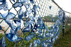 Spectacular Swarms of Cyanotype-Printed Butterflies Form Urban Guerrilla Art Installations   Inhabitat - Green Design, Innovation, Architecture, Green Building