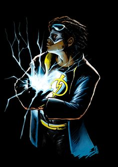 Static Shock Commission colored by ~aixiaolai on deviantART Black Lightning Static Shock, League Of Heroes, Supergirl 2015, Comic Books Art, Comic Art, Best Hero, Dc Characters, Young Justice, Marvel Dc Comics