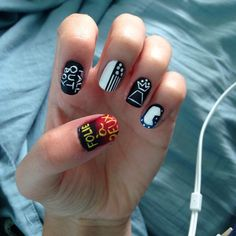 Love Nails, My Nails, Catherine Nails, Fall Out Boy Concert, Band Nails, Best Nail Art Designs, Teen Hairstyles, Cute Nail Art, Pilots