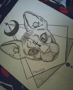 #tattoo #drawings #cat