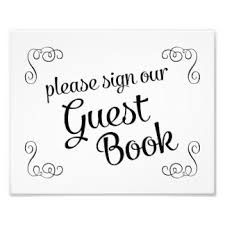Swirls Please Sign Our Guest Book Wedding Photo Print Signs