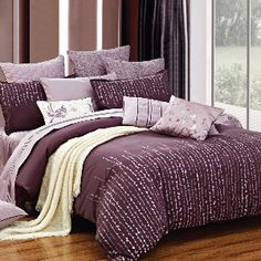 Maison Condelle   Hannah 6-Piece Embroidered Comforter  Set In Plum