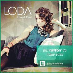 Bizi Twitter'da da takip edin. #ev #dekorasyon #lodamobilya