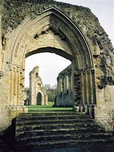 Glastonbury Abbey, a Benedictine abbey is located in Glastonbury, Somerset, England
