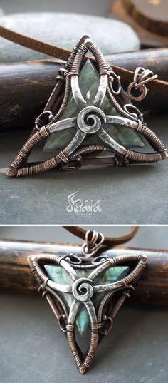 5f6205207 Beauty looks like beauty Celtic Wire Jewelry, Copper Jewelry, Pagan Jewelry,  Wire Pendant