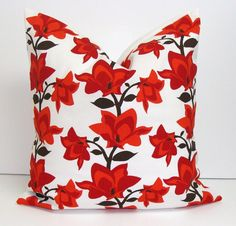 PillowBrown and Red20x20 inch Decorator Pillow by ElemenOPillows, $20.00