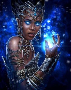 Warlock 2 concept art by Sergey Kondratovich on ArtStation. Black Love Art, Black Girl Art, Art Girl, Black Goddess, Goddess Art, African American Art, African Art, Character Portraits, Character Art