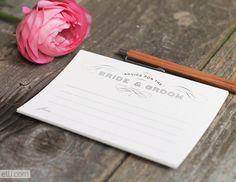 Wedding advice card printable download