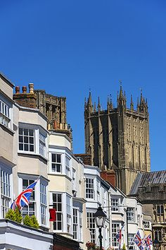 Wells in Somerset is the smallest city in England and remains remarkably unspoiled, and boasts many  historical buildings, this one being the 13th century Wells Cathedral.