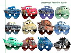 Unique Funny Cars Printable Masks Collection by AmazingPartyShop