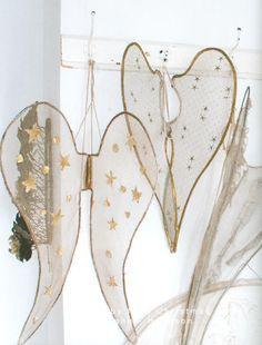 DIY angel wings; My Shabby Streamside Studio