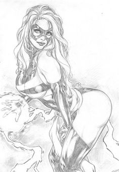 Ms Marvel by Carlos Silva, in Court Gebeau's Carlos Silva Pinups and Commission Samples Comic Art Gallery Room - 992250