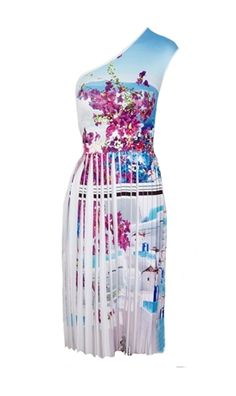 Oxygen | Clover Canyon Santorini Stripe Neoprene Dress #CloverCanyon #floral #fashion #summer #ootd #shopping #lookoftheday