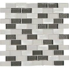 Master Bath Decorative Wall Tile- Daltile Crystal Shores Diamond Delta CS93 1x2 Mosaic