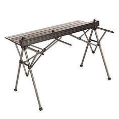 Aluminum Camping Table Roll Up Folding Desk Outdoor Garden Picnic Bbq Portable