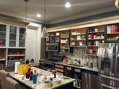 You might want to rethink the color of your kitchen when you see what these paint experts did: We are adding Galapgos Blue everywhere we can! It is our signature color that we invented and WON a contest in 2015 hosted by General Finishes! Stained Kitchen Cabinets, Painting Kitchen Cabinets, Kitchen Paint, Kitchen Redo, Kitchen Design, Kitchen Ideas, Easy A, Terra Cotta, Diy Concrete Counter
