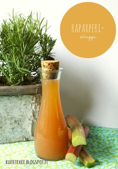 Maailman paras Raparperisiirappi! - ku ite tekee Pepper Grinder, Preserves, Food To Make, Food And Drink, Paper Crafts, Stuffed Peppers, Homemade, Cooking, Recipes