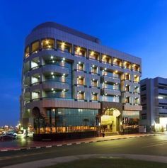 Sun & Sands Sea View Hotel Dubai Sun & Sands Sea View Hotel offers air-conditioned rooms, just 15 minutes' drive from Dubai International Airport. It has a 24-hour front desk and an outdoor pool with a sun-lounger terrace.  The modern rooms are decorated in warm colours.