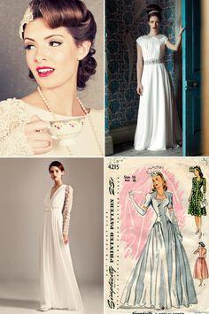Your Guide To Vintage – 1940s & 1950s | weddingsonline Ingrid Bergman, Jessica Rabbit, Elizabeth Ii, Fur Vintage, Vogue Cover, Bridal Elegance, Wedding Dresses 2014, 1940s Dresses, Fashion Images