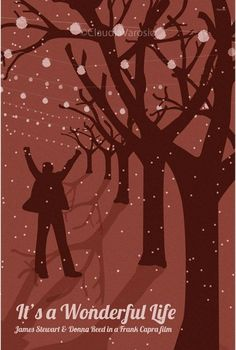 It's a Wonderful Life (1946) - Minimal Movie Poster by Claudia Varosio