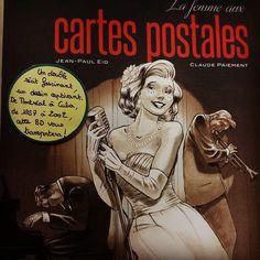 La femme aux cartes postales de Jean-Paul Eid et Claude Paiement @editionspasteque  Coup de cœur de la librairie du Québec à Paris #libraires #bd #bandedessinee #lespetitsmotsdeslibraires #coupdecoeurbd