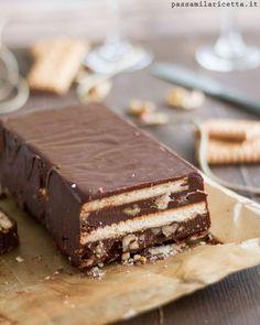 Mattonella Cioccolato e Biscotti Senza Cottura, Senza Uova. Un dolce facile e veloce da preparare