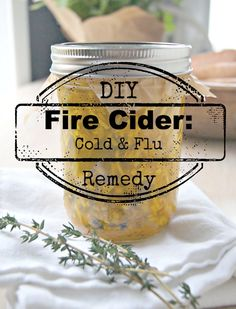fire cider: a DIY all natural remedy for cold and flu relief from thesproutingseed.com