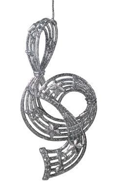 Notenschlüssel,silber
