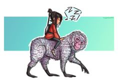 kubo and monkey by HayaMika.deviantart.com on @DeviantArt