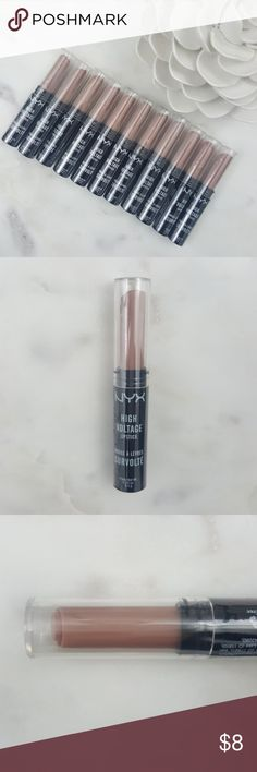 "NYX Cosmetics High Voltage Lipstick ""STONE"" Brand new, still sealed, 100% authentic, NYX Cosmetics High Voltage Lipstick in the color ""STONE"".    Amp up your look with this High Voltage lipstick!!  Infused with vibrant color with a super rich finish!!  Listing is for one each.  Bundle with other items in my closet and save!!  Happy Poshing!! NYX Makeup Lipstick"