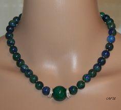Colliers - Halskette-Collier-Azurit-Malachit - ein Designerstück von MartinDesign bei DaWanda