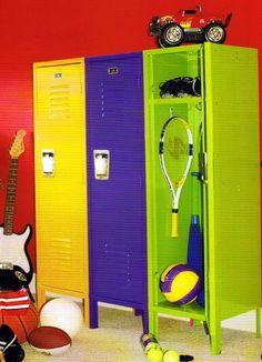 Playroom ideas on pinterest baseball playrooms and sports for Kids locker room furniture
