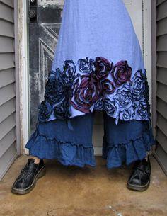 CUSTOM ORDER for Tara Purple Linen New by sarahclemensclothing, $169.00